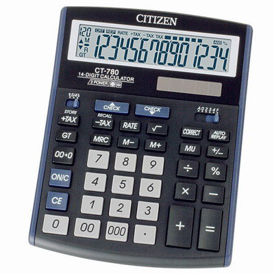 Калькулятор Citizen CT-780