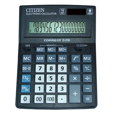 Калькулятор Citizen D-316