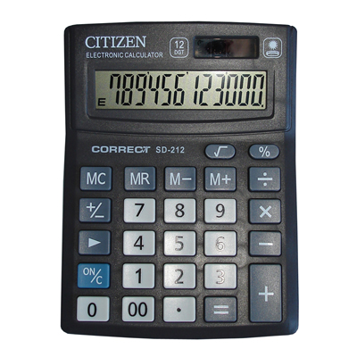 Калькулятор Citizen SD-212